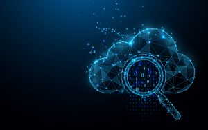 Cloud online storage technology concept